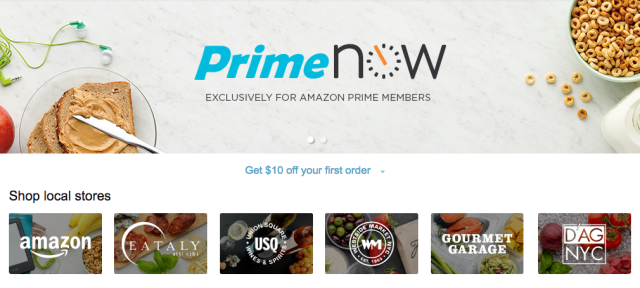 Amazon Prime Now arrives online with one-hour delivery service