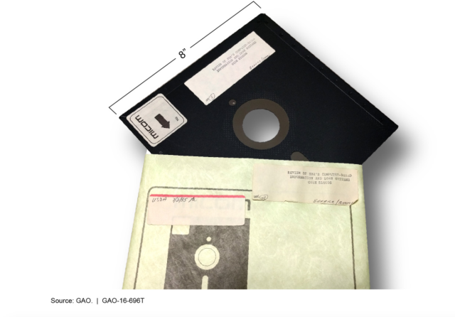 For those of you who don't remember, this is what an 8-inch floppy disk looks like.