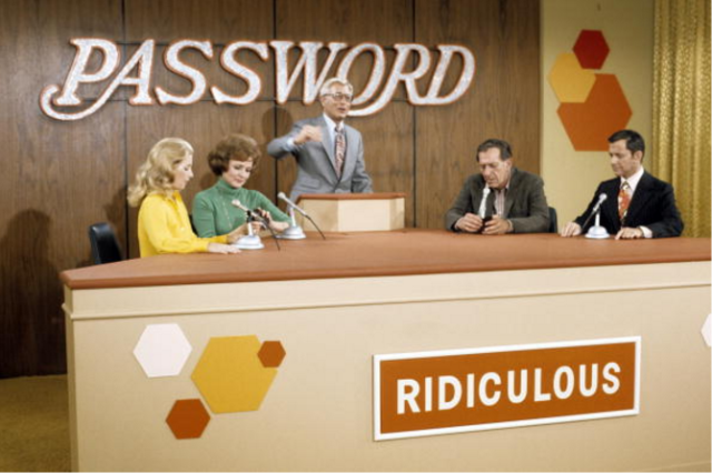 Screenshot from gameshow Password.