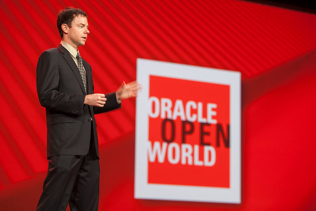 Edward Screven, Oracle's chief architect, speaking at Oracle's OpenWorld conference in 2012.