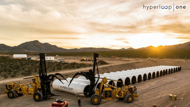 The site Hyperloop One is using to test its sled.