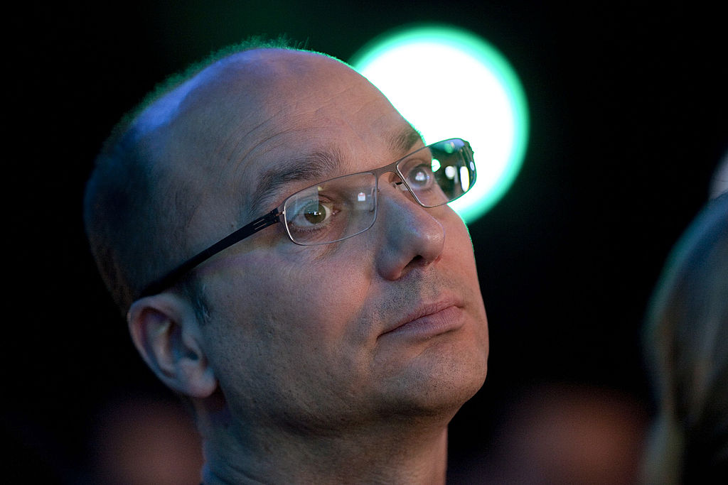 Andy Rubin attending a Samsung launch event when he was senior vice-president of Google's mobile division in 2011.