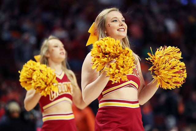 Iowa State Cyclones cheerleaders during the 2016 NCAA Men's Basketball Tournament.