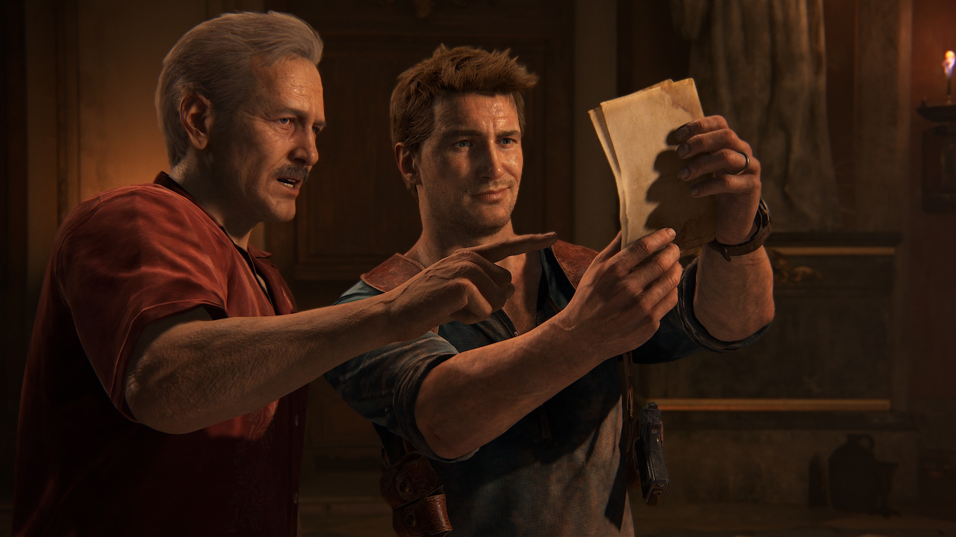 <em>Uncharted 4: A Thief's End</em>concludes Nathan Drake's arc with big action set pieces and visuals that still look sharp five years after release. And Paul Newman, I guess.
