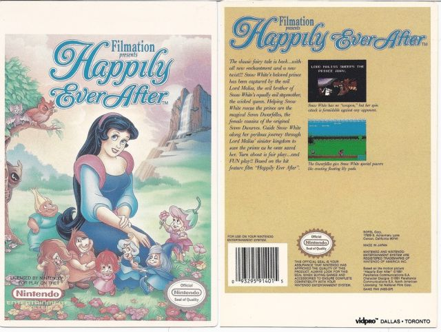 Work on the unreleased <i>Happily Ever After</i> got far enough that box art was actually produced.