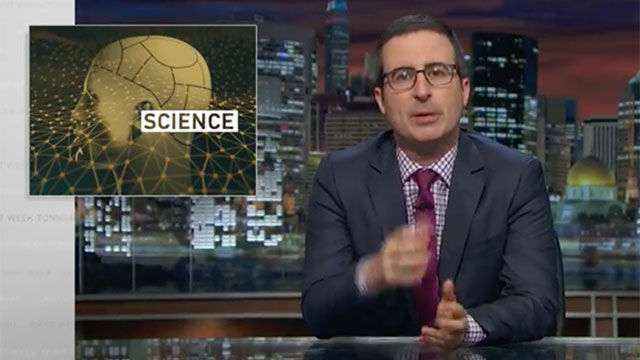 John Oliver's rant about science reporting should be taken seriously