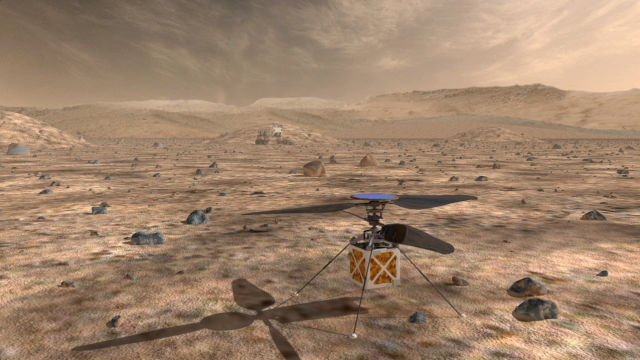A proposed helicopter could triple the distances that Mars rovers can drive in a Martian day.