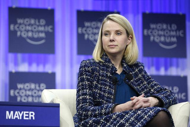 Yahoo CEO Marissa Mayer at World Economic Forum in 2014.