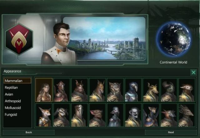 A white human is <i>Stellaris</i>, along with some of his Mammalian counterparts.