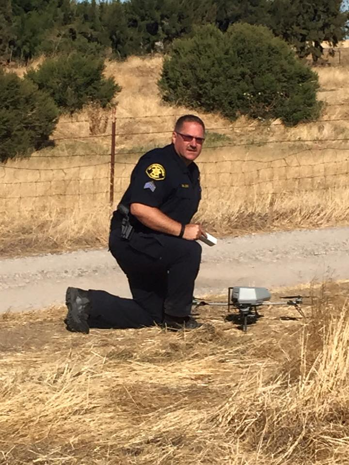 In September 2015, a deputy posed with his agency's drone.