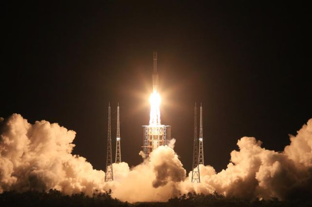 China's Long March 7 rocket lifts off on June 25 from the Wenchang Satellite Launch Center.