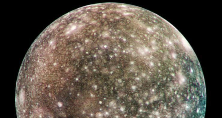 Callisto, as seen by the Galileo probe.