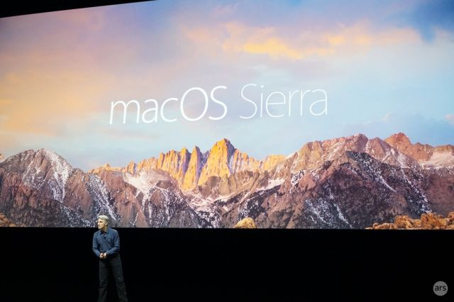 "Goodbye, OS X: Apple's new desktop OS is ""macOS Sierra"""