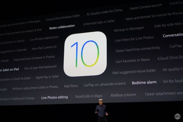The onstage presentations don't encompass every new feature in iOS 10 and macOS Sierra.