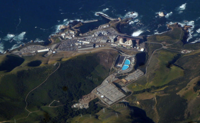 The Diablo Canyon nuclear plant.