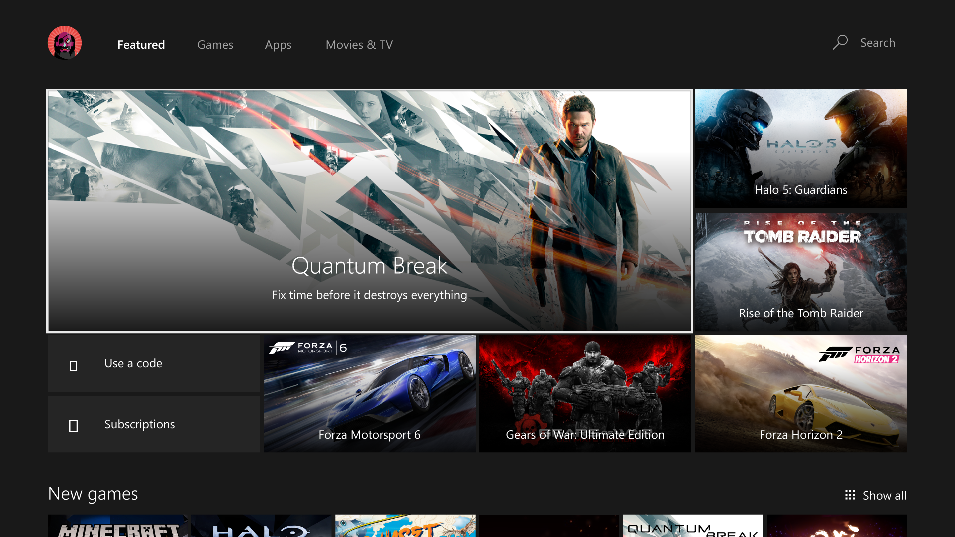 The Xbox Store has a new look.