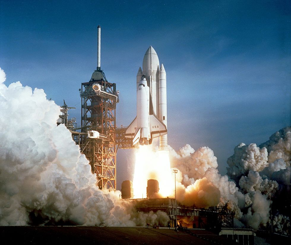 The first launch of the space shuttle finally came on April 12, 1981.