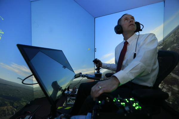 Retired United States Air Force Colonel Gene Lee, in a flight simulator, takes on the ALPHA AI. It doesn't go well for him.