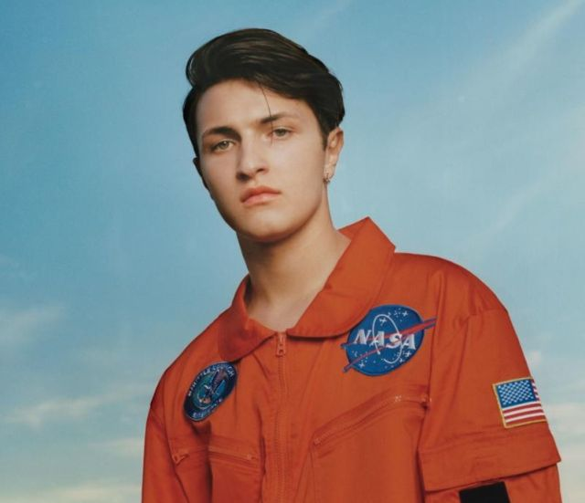 Anwar Hadid sports a NASA flight suit. This is hip, folks.