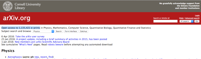 arXiv: Not much to look at, but it's become a great tool.