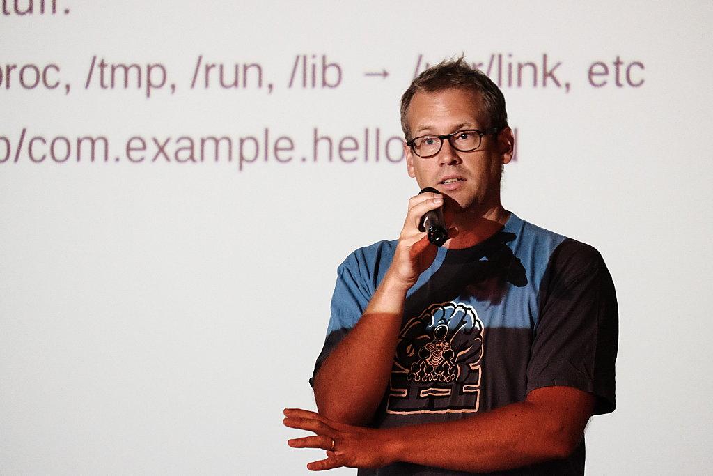 Flatpak creator Alexander Larsson.