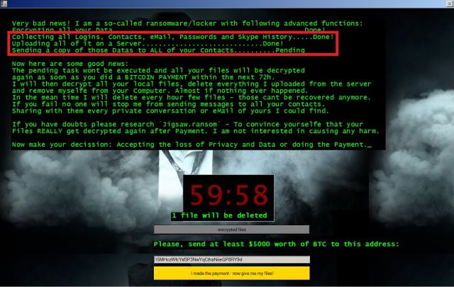 Meet Jigsaw, the ransomware that taunts victims and offers live support