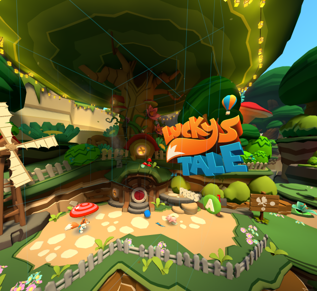 This is <i>Lucky's Tale</i> running on the HTC Vive. It's a scene Oculus never wants you to see.