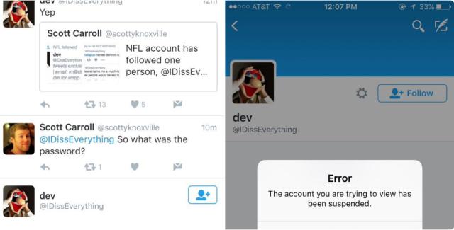 Miscreants breach NFL's Twitter account, reveal its weak password