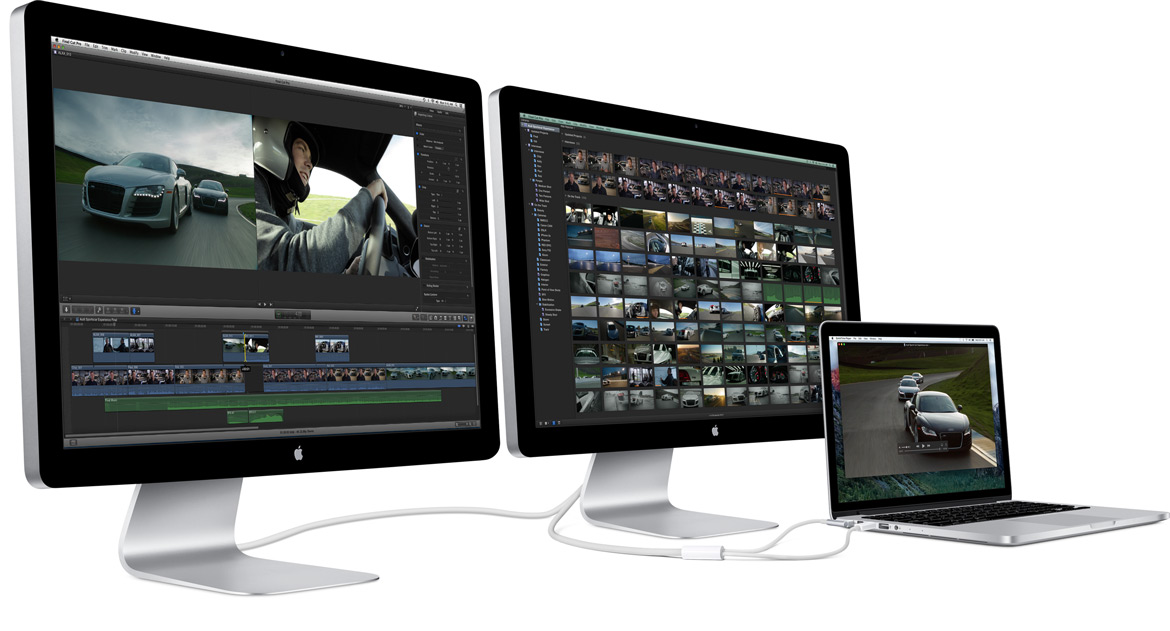 how to use thunderbolt display with pc