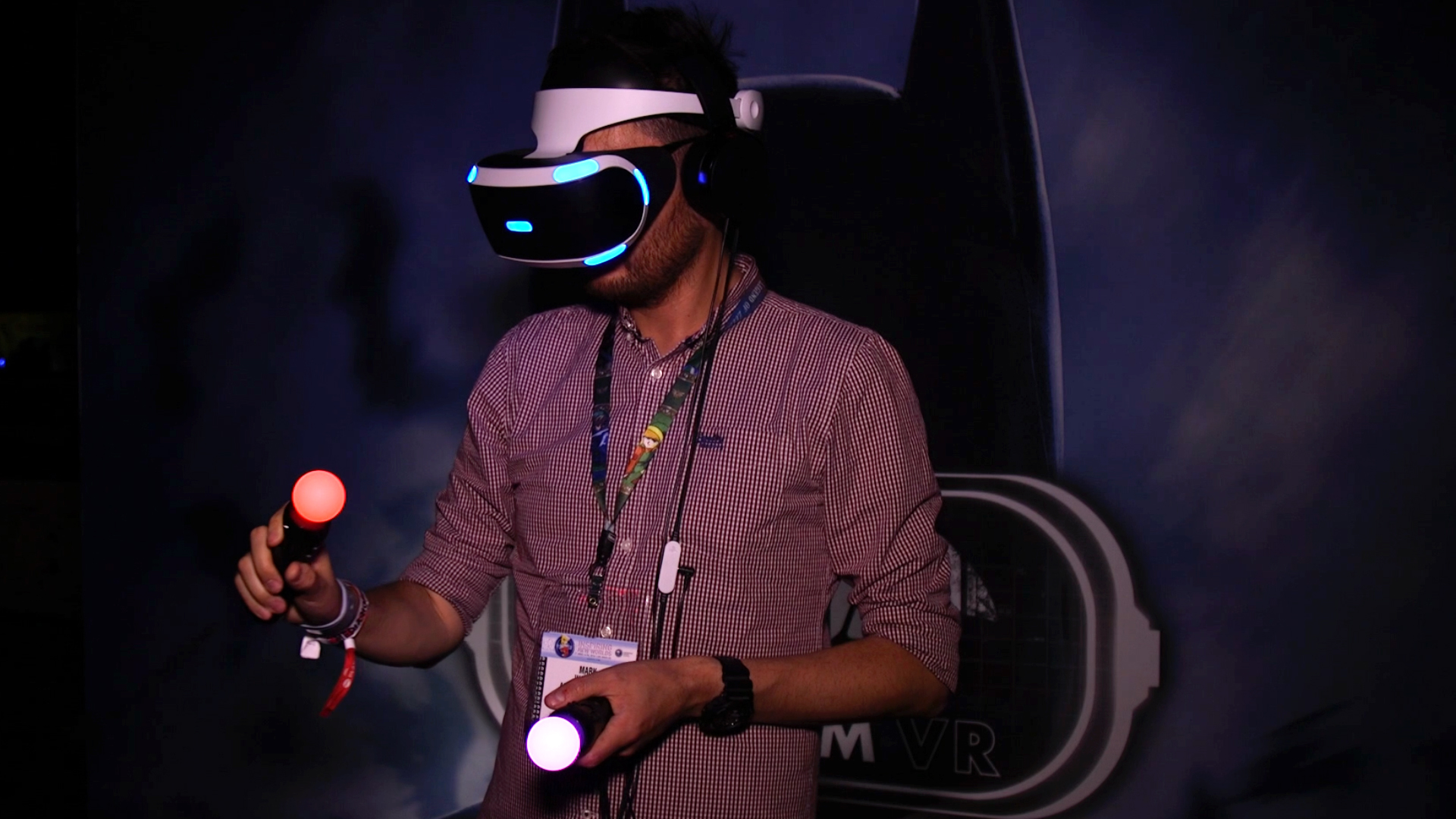 The PlayStation VR.