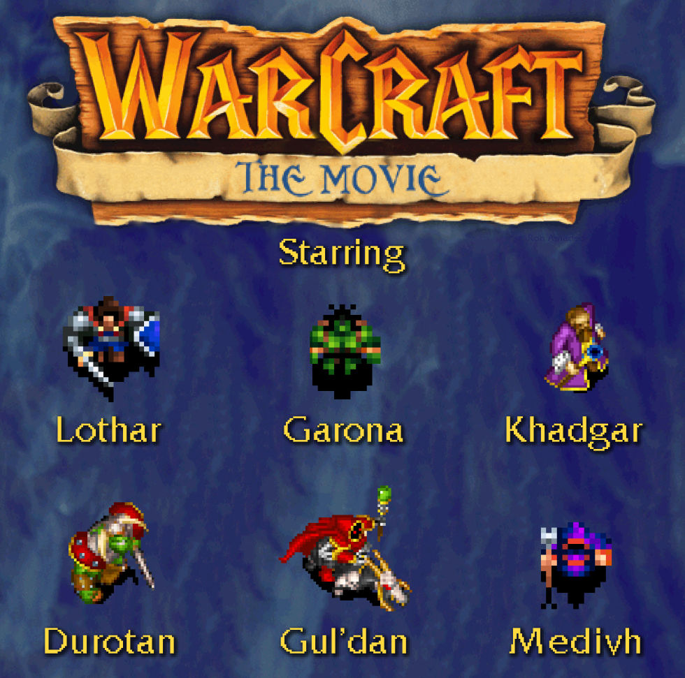 The stars of the <em>Warcraft</em> movie as they appeared in <em>Warcraft I</em> and <em>II</em>. (We cheated a bit for Durotan, who doesn't appear in the games.)