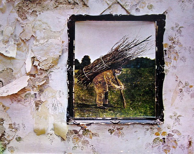 "The cover of ""Led Zeppelin IV"" from 1971. ""Stairway to Heaven"" is song No. 4. The album was remastered in 2014."