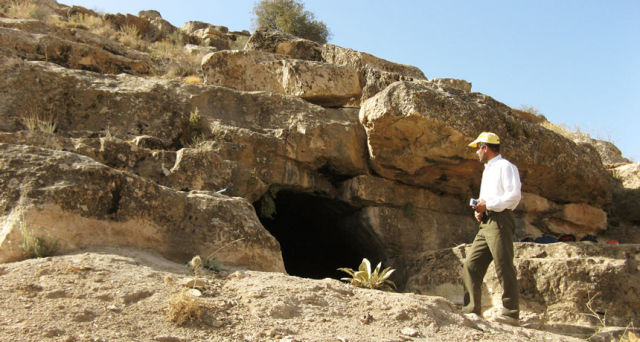 A cave in Iran where the bones of ancient human farmers were found. Their DNA was sequenced to unlock the mystery of who the earliest farmers were in the region.
