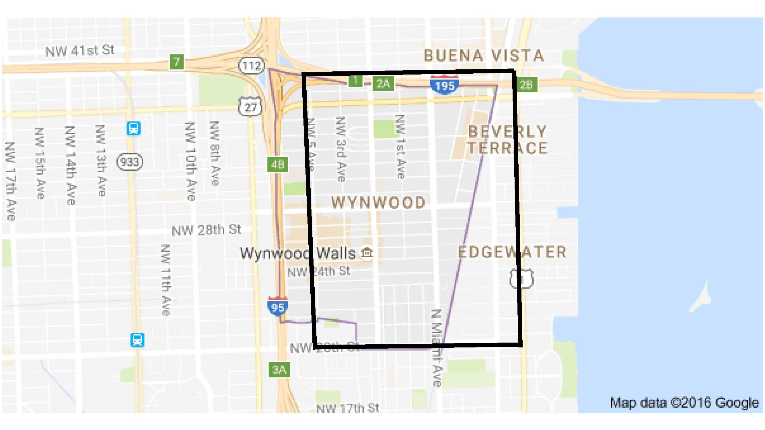 The area of Miami-Dade county where officials believe mosquitoes may be actively transmitting Zika.