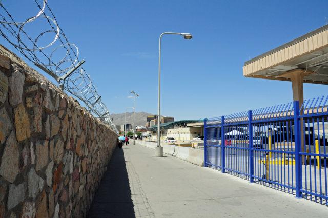 El Paso, Texas, border crossing as seen in 2009.
