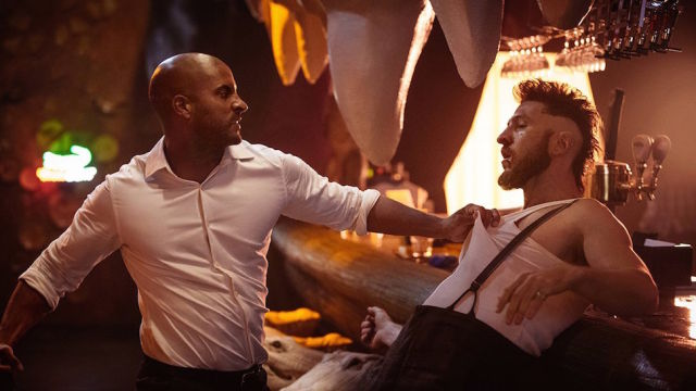 <em>American Gods</em>' Shadow Moon (Ricky Whittle) just got out of jail and now has to deal with a world full of gods, and he's not exactly happy about it.