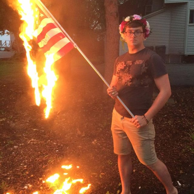 How an Illinois man's flag-burning 4th of July celebration ended in jail