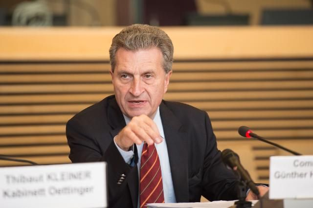 Brussels' digital chief Gunther Oettinger: I like your manifesto, put it to the testo.