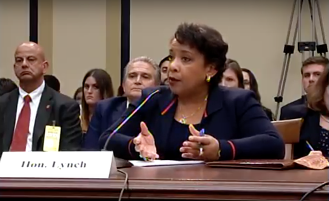 Attorney General Loretta Lynch is grilled by GOP lawmakers during a Tuesday hearing.