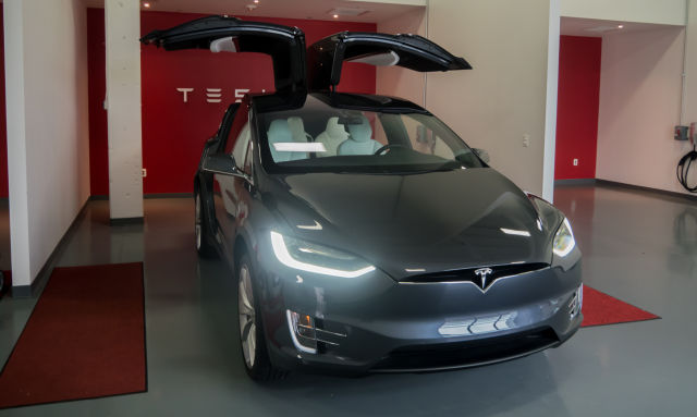 Tesla's Model X SUV.