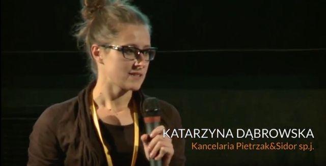 Katarzyna Dąbrowska, as seen in 2013 in Warsaw.