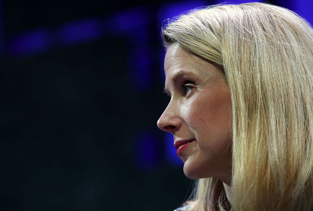 Yahoo CEO Marissa Mayer seen at the Fortune Global Forum on November 3, 2015 in San Francisco.