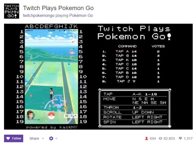 Twitch Plays Pokemon Go combines two unavoidable gaming trends