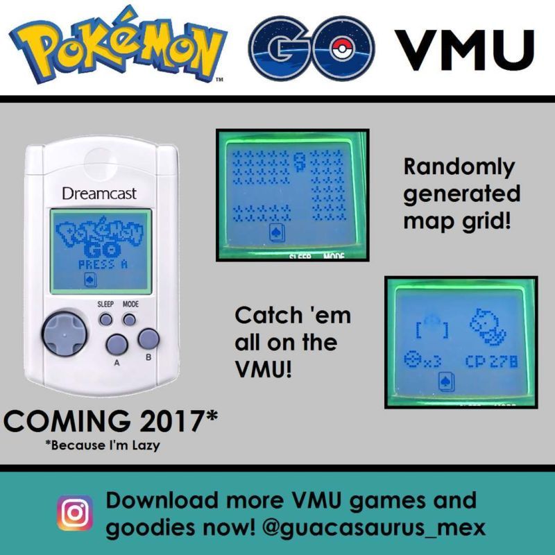 Someone is porting Pokémon Go to the Dreamcast VMU | Ars
