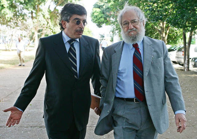 Seymour Papert (right) seen here in 2005.