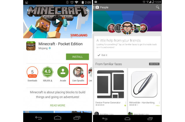 The Google Play Store scraps Google+ integration