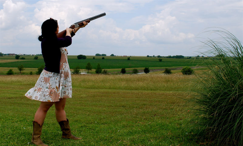 Jennifer Youngman (not pictured here), used a 20-gauge shotgun like this one to down the drone.
