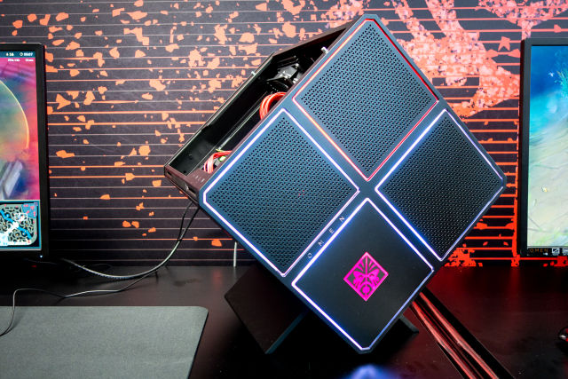 HP's new Omen X gaming PC is a tilted homage to the NeXTcube