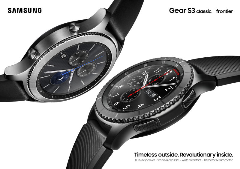 The Samsung Gear S3.