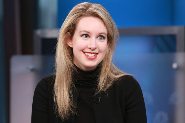 Elizabeth Holmes, Theranos' CEO and the world's youngest self-made female billionaire, in an interview on September 29, 2015. (Photo by David Orrell/CNBC/NBCU, Photo Bank via Getty Images.)